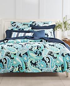 CLOSEOUT! Charter Club Damask Designs Multi Paisley Cotton 300-Thread Count Bedding Collection, Created for Macy's