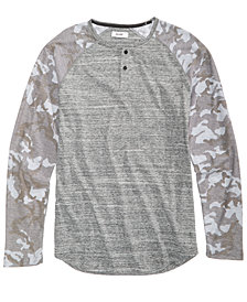 Univibe Men's Mash Up  Henley