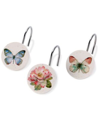 Butterfly Garden Shower Hooks