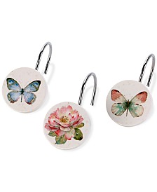 Avanti Butterfly Garden Shower Hooks