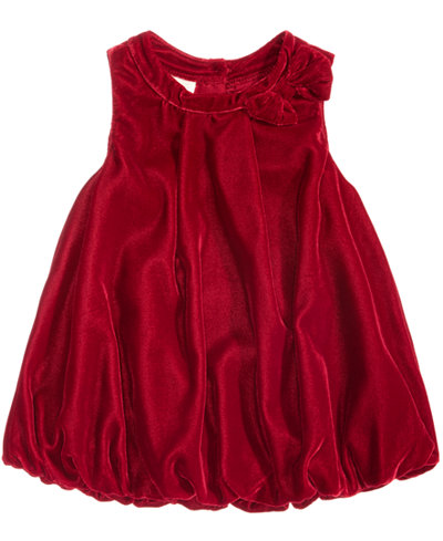 First Impressions Velvet Bubble Dress Baby Girls Created