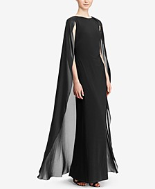 Georgette-Cape Gown