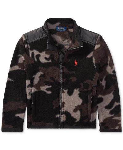 Ralph Lauren Camo Fleece Jacket, Toddler Boys (2T-5T) - Coats ...