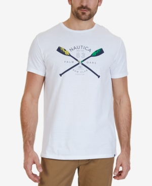 Nautica Men's Big & Tall Oars Graphic-Print T-Shirt