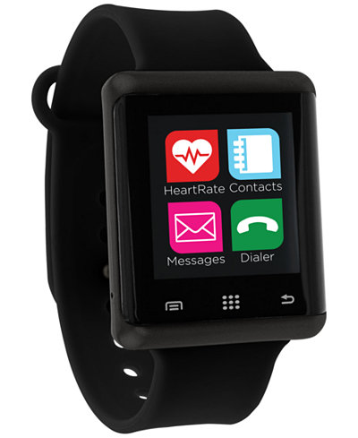 itouch unisex pulse black silicone strap smart watch 45mm