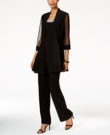R & M Richards Embellished Layered-Look Pantsuit