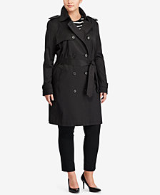 Lauren Ralph Lauren Plus Size Double-Breasted Trench Coat