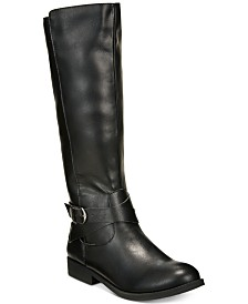 Style & Co Madixe Wide-Calf Riding Boots, Created for Macy's