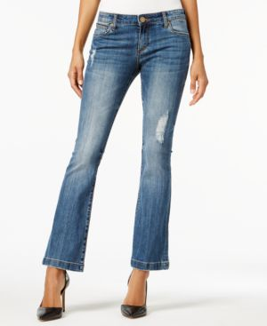 Kut from the Kloth Petite Chrissy Flare-Leg Jeans 5186356