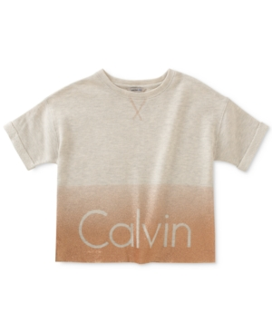 Calvin Klein Cropped Ombre ShortSleeve Logo Sweatshirt Big Girls (716)