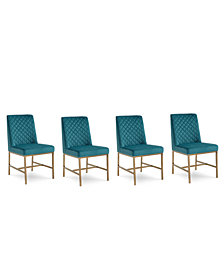 Cambridge Dining Chair 4-Pc. Set (4 Teal Side Chairs)