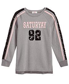 Kandy Kiss Saturyay Sequin-Detail Sweatshirt, Big Girls