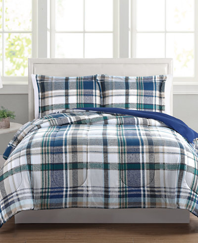 Beaufort Reversible 3-Pc. King Comforter Set, Created for Macy's