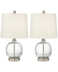 Pacific Coast Set of 2 Round Glass Table Lamp