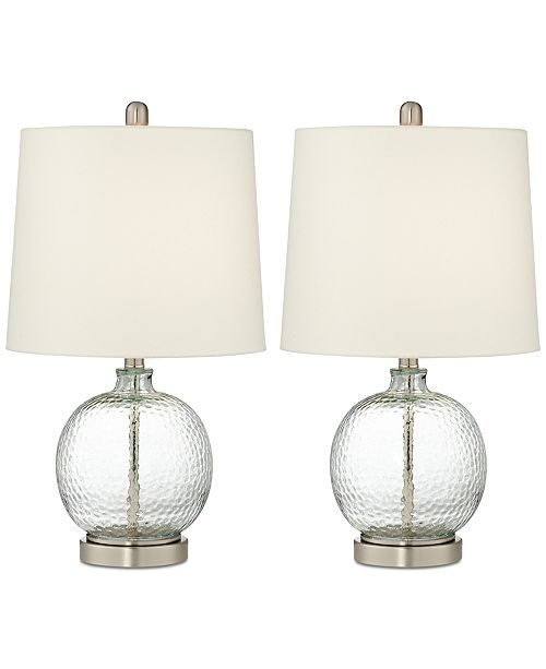 Pacific coast set of 2 round glass table lamp lighting lamps main image aloadofball Image collections