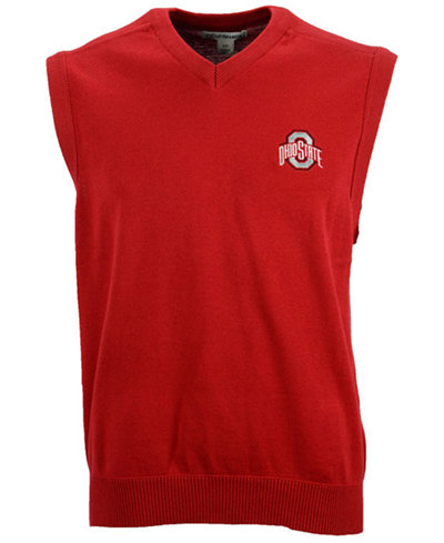 Cutter & Buck Men's Ohio State Buckeyes Broadview Sweater Vest ...