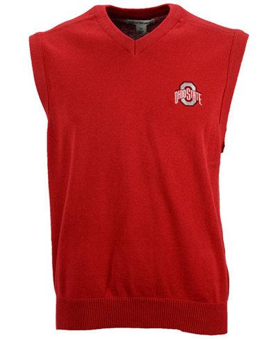 Cutter & Buck Men's Ohio State Buckeyes Broadview Sweater Vest