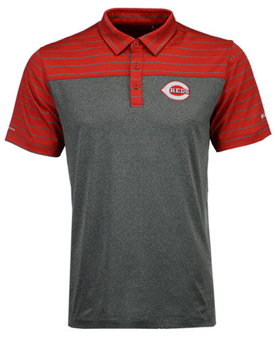 Columbia Men's Cincinnati Reds Omni-Wick Groove Polo