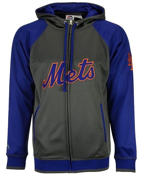 half off acd2e e0b16 Majestic Men's New York Mets Fanatic Raglan Full-Zip Hoodie ...