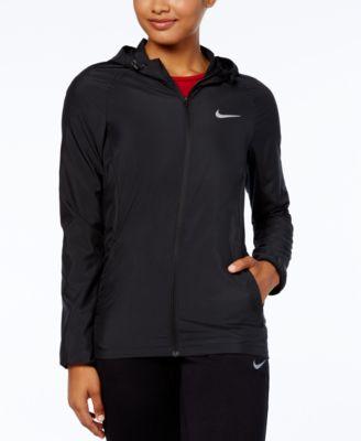 womens black hooded nike jacket