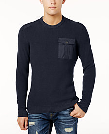 American Rag Men's Military Sweater, Created for Macy's