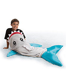 Snuggie Tails Soft Cuddly Throw Blanket, Shark Tail