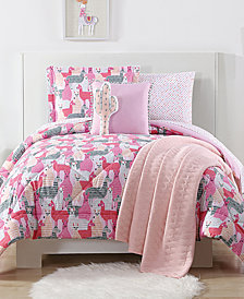 Laura Hart Kids Llama Reversible 3-Pc. Printed Full/Queen Comforter Set