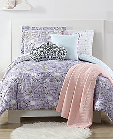 Laura Hart Kids Unicorn Princess Reversible 3-Pc. Printed Full/Queen Comforter Set