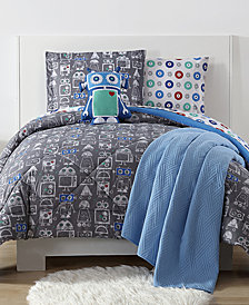 Laura Hart Kids Roboto Reversible 3-Pc. Printed Full/Queen Comforter Set