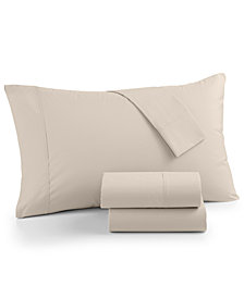 LAST ACT! AQ Textiles NuPercale 400 Thread Count 4-Pc. King Sheet Set