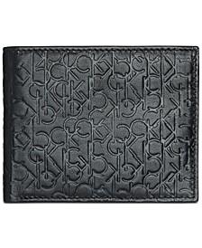 Men's Embossed Logo Leather Billfold