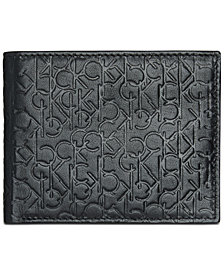 Calvin Klein Men's Embossed Logo Leather Billfold