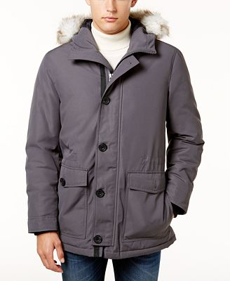 Alfani Men's Parka, Created for Macy's - Coats & Jackets - Men ...