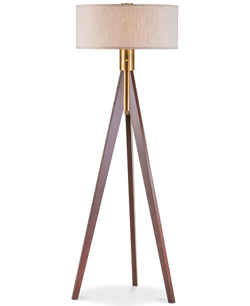 shade base linen finish shape lamp tripod products black floor img hubble color natural conical