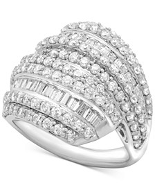 Diamond Layered Cluster Ring (2 ct. t.w.) in Sterling Silver, Created for Macy's