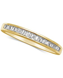 Diamond Baguette Gold Band (1/7 ct. t.w.) in 14k White Gold, Gold, or Rose Gold