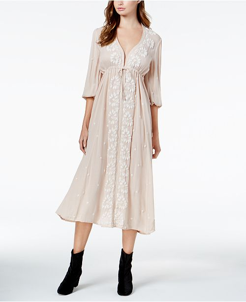e9ea5a57f0e Free People Embroidered Maxi Dress   Reviews - Dresses - Juniors ...