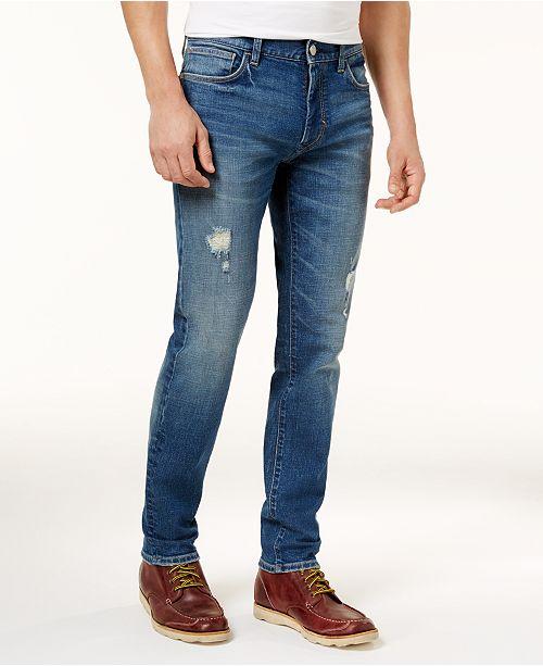 f39bcc7a7267 ... Tommy Hilfiger Mens Distressed Slim-Fit Jeans