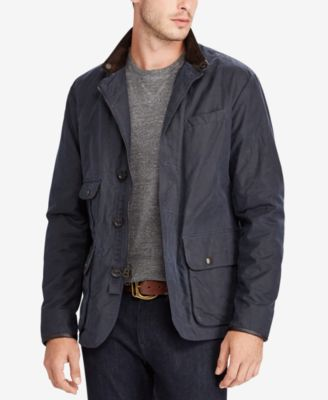 Oilcloth Hunting Jacket - Cloth Jackets & Outerwear - RalphLauren ...