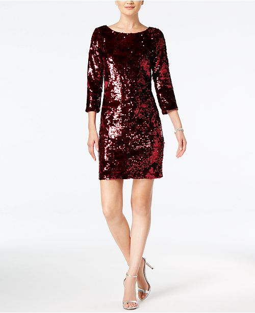 e93c4eb9 Vince Camuto Velvet Sequined Sheath Dress & Reviews - Dresses ...