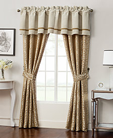 """Waterford Home Ansonia Pole Top Pair 100"""" x 84"""" Window Drapery"""