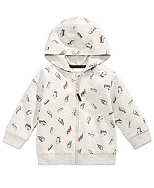 First Impressions Sketch-Print Hoodie, Baby Boys, Created for Macy's