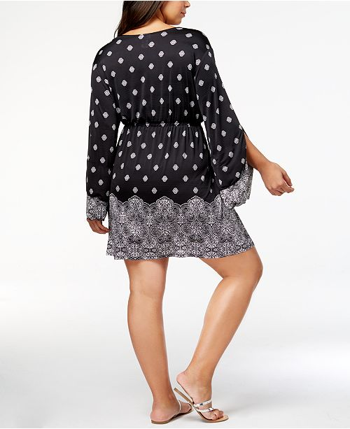 15120ce094e Dotti Plus Size Gypsy Dancer Printed Cover-Up Tunic   Reviews ...