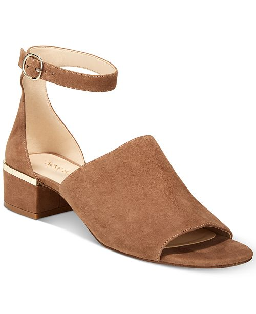 09704ad4a5d Nine West Yorada Block-Heel Sandals   Reviews - Sandals   Flip Flops ...