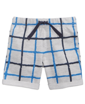 First Impressions WindowpanePrint Shorts Baby Boys (024 months) Created for Macys