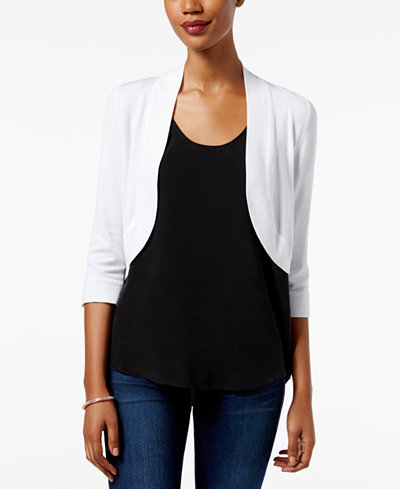 Jessica Howard Bolero Cardigan - Sweaters - Women - Macy's