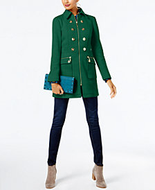 I.N.C. Button-Trim Coat, Created for Macy's