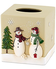 Snowman Gathering Tissue Cover