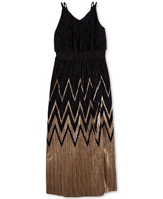 BCX Chevron Maxi Dress, Big Girls