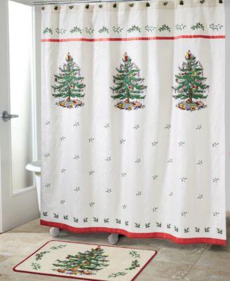 Spode Christmas Tree Shower Curtain